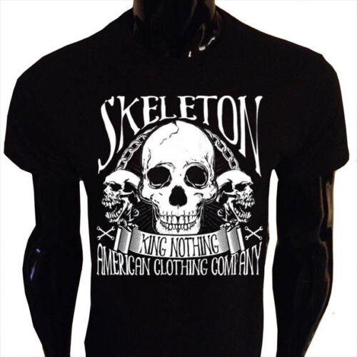 King Nothing Mens T-Shirt S-5XL SCREENPRINTED Skeleton American S-5XL K01