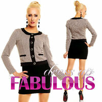 NEW SEXY WOMEN'S SHORT JACKET HOT OUTERWEAR FORMAL Size 10 12 8 ( S M L )