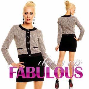 NEW-SEXY-WOMEN-039-S-SHORT-JACKET-HOT-OUTERWEAR-FORMAL-Size-10-12-8-S-M-L