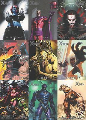 X-Men Archives Legendary Heroes Chase Card Set LH1 thru LH9