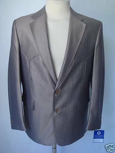 40R 32W New  Herren Western Wear Suit Braun Swedish Knit