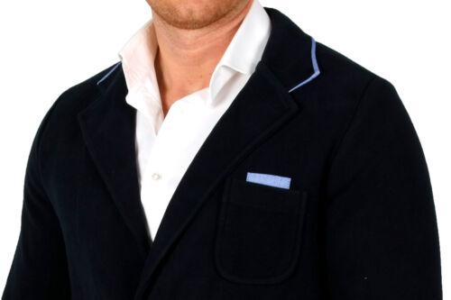 Veste Costume Blazer croisés bleu Printemps S M Hommes Veste Veste De Sport zweiknopf