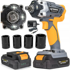 CORDLESS-IMPACT-WRENCH-2300RPM-350Nm-2AH-20V-HARD-CASE-ACCESSORIES