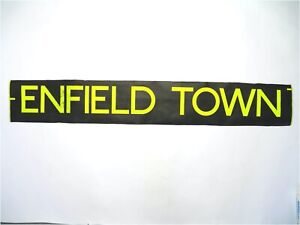 Enfield-Town-bus-blind-vintage-screen-printed-London-destination
