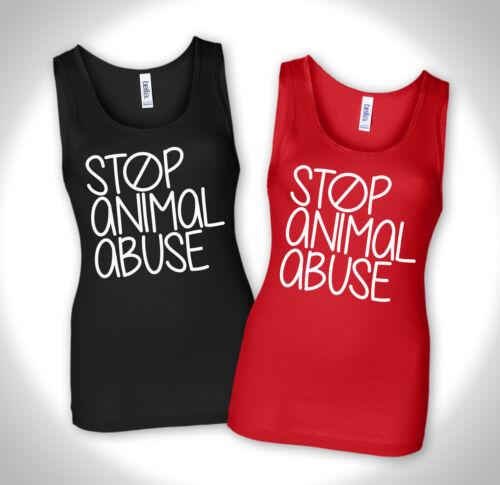 Tierschutz Vegan Vegetarian Tierversuche Punk STOP ANIMAL ABUSE 2 - Tank Top