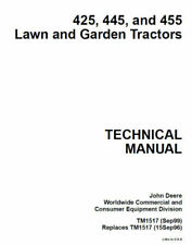 John Deere TM113019 Technical Service Manual CD For EZTrak Z425 Z435