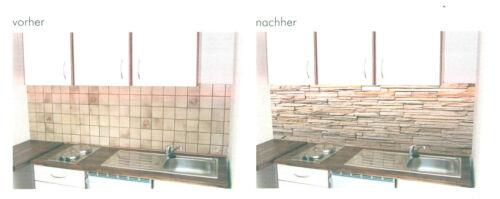 5x Küchennischen Motiv Deko Wand Küchen Spritzschutz Wandschutz Naturstein 68