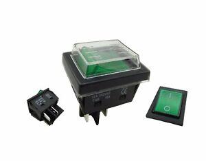Einbau-Wippschalter-30A-250-mit-Wasserdichte-Abdeckung-2-polig-4pin-gruen