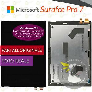 DISPLAY MICROSOFT SURFACE PRO 7 1866 (Q1) LCD + TOUCH SCREEN VETRO SCHERMO NERO