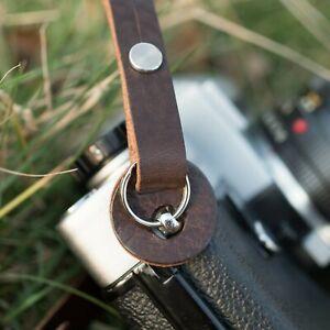 """Il 1901 /""""Steichen/"""" in pelle Camera Strap-Barnack Rosso"""