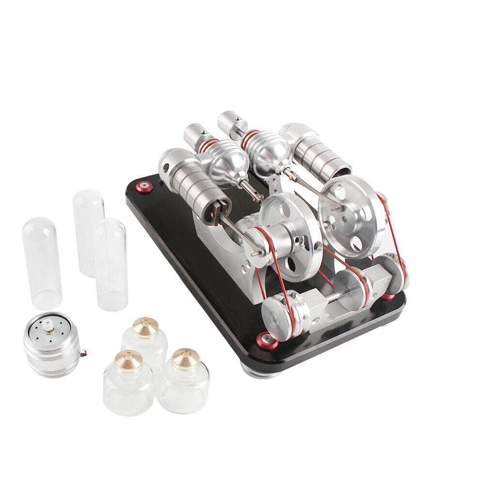 caliente Air Stirling Engine Motor modello Generator Education giocattolo Electricittà Kits nuovo