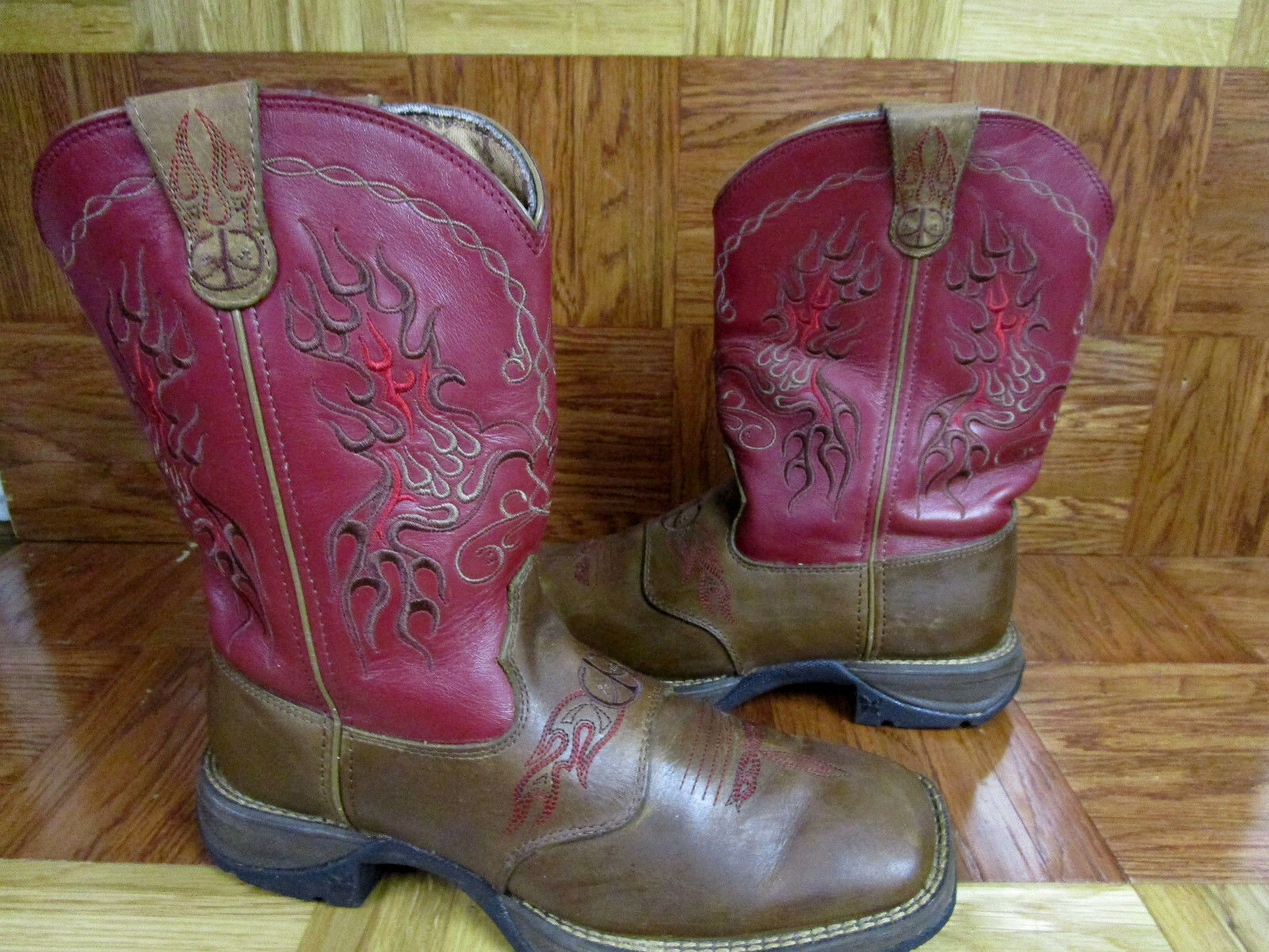 Durango Women's Lady Rebel 10  Western Boots Rd3551 Rare color & Design 8.5 M