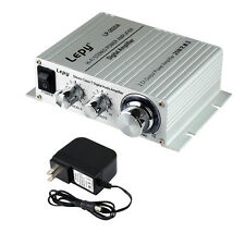 LP 2020A Tripath Class D HIFI Audio Amplifier 20x2W AMP Power Supply Silver New