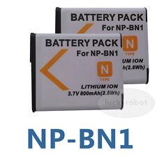 2X Battery  For Sony NP-BN1 DSC-WX7 DSC-WX5 DSC-W370 TX5 DSC-W810 DSC-W830