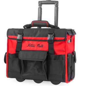 Tool Storage Tote Bag Organizer Backpack Rolling Wheel 18 in Jobsite Home NEW