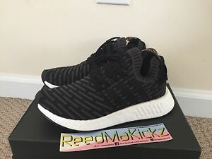 0cd2264b53293 Image is loading Adidas-NMD-R2-PK-Primeknit-Black-Pink-Womens-