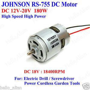 Johnson rs 755 dc motor dc12v 20v high speed high power for Johnson electric dc motors