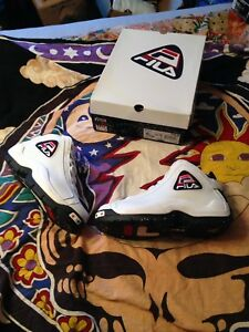 best sneakers 1cf93 57b5f Image is loading Fila-96-Olympic-Grant-Hill-Size-10-5-