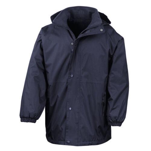 Result Reversible Waterproof Fleece Lined Coat Jacket Adjustable Hood
