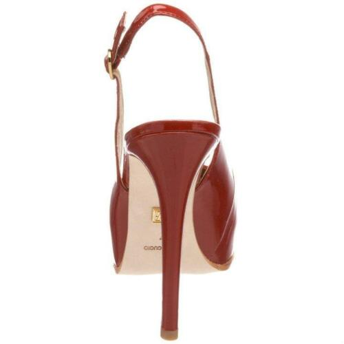 ON SALE Pour La Victoire Aria Slingback Strap High Heel Patent Leather Red Shoes