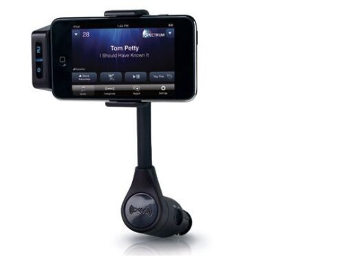 Play Through Car Speakers,FM Transmitter,Charger for iPhone 3,3S,4.4S,5 iPod 5G
