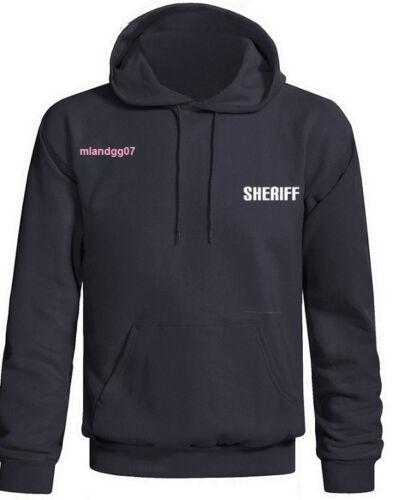 SHERIFF Sweatshirt Police  Hoodie Two Sides Print SIZES S-3XL