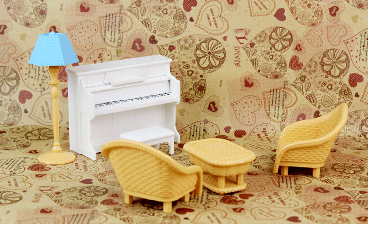 Kitchen Living Room Bedroom Miniature Sofa Furniture For Sylvanian Families Doll 6