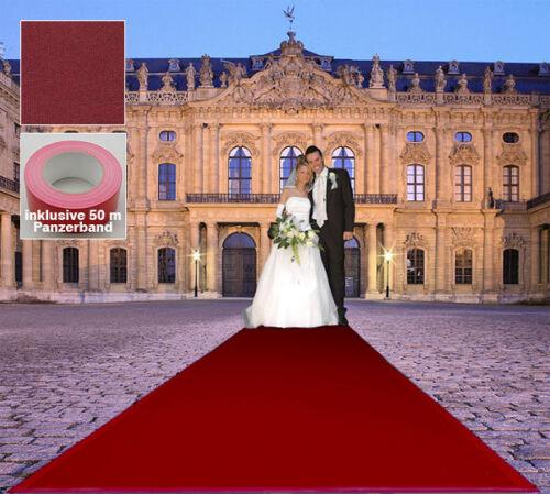 Event Hochzeits Dunkel Roter Teppich B1  VIP 130x1000 cm