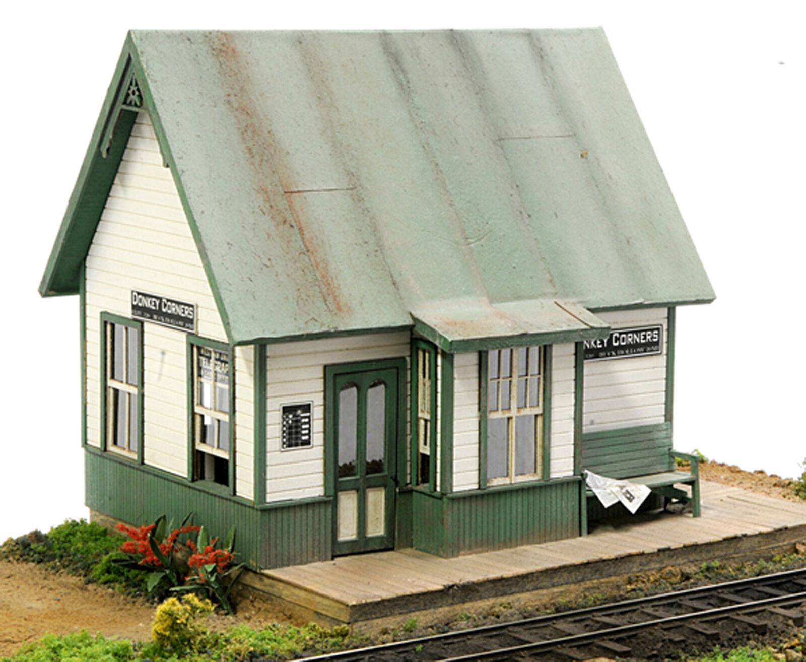 BANTA MODELWORKS DEPOT AT DONKEY CORNERS O On30 Railroad Unptd Laser Kit BM6108
