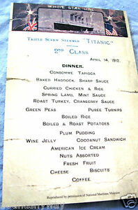 TITANIC-Menu-Restraunt-Antique-Vintage-Retro-London-Card-New-York-Food-amp-Drink