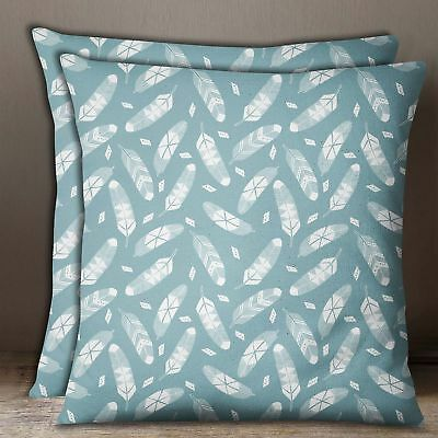 Shibori Print Cushion Cover Indigo Blue Cotton Poplin Square 2 Pcs Pillow Case
