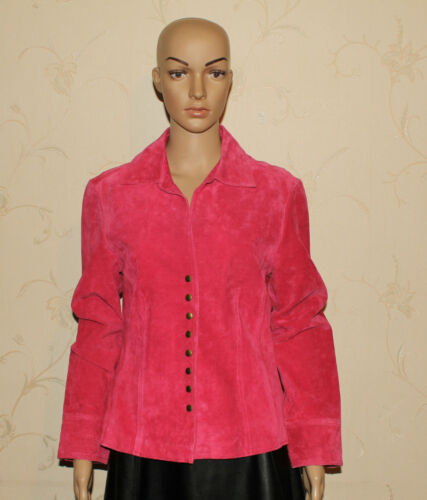 Jakke Størrelse En Blazer Popper Leather Fitted Live Hip Rose lille M Pink Længde 4RzqxnAwU
