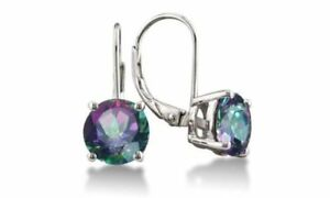 925-Sterling-Silver-2-00-ct-Round-6mm-CZ-Leverback-Earrings-Mystic-Leverback