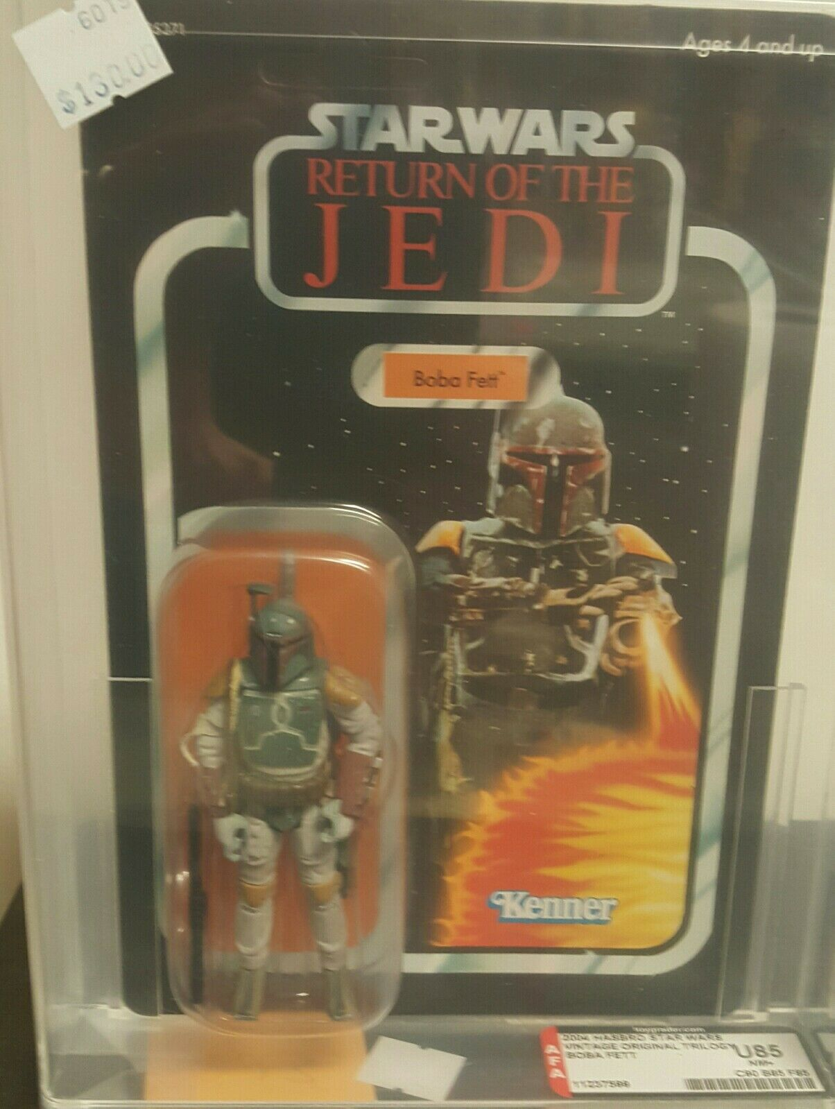 2004 Star Wars Trilogy AFA Graded Boba Fett U85NM+ Unpunched MOC