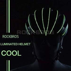 RockBros-Leuchtender-Fahrradhelm-PC-EPS-57cm-62cm-Reflektierend-Mit-Visier