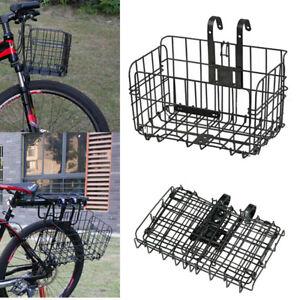 Front Rear Hanging Storage Bicycle Bike Basket