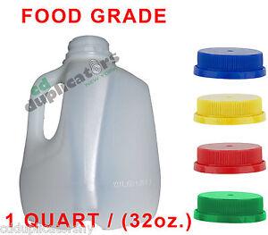 32 oz jugs quarter gallon hdpe plastic juice jugs with tamper proof