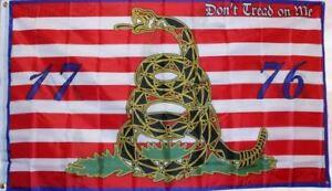 Navy Jack Gadsden Culpeper Tea Party 1776 Molon Come and Take it Flag 3'x5'