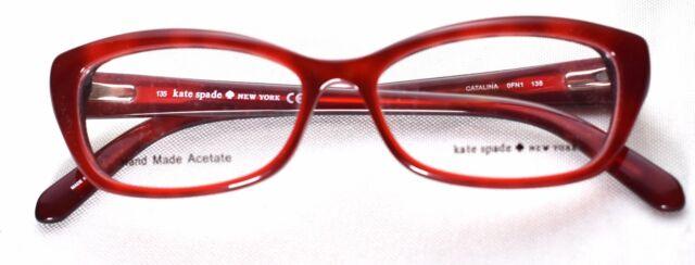 5cdcc4e52f9 Kate Spade Eyeglasses Catalina 0fn1 Red Havana 51mm for sale online ...