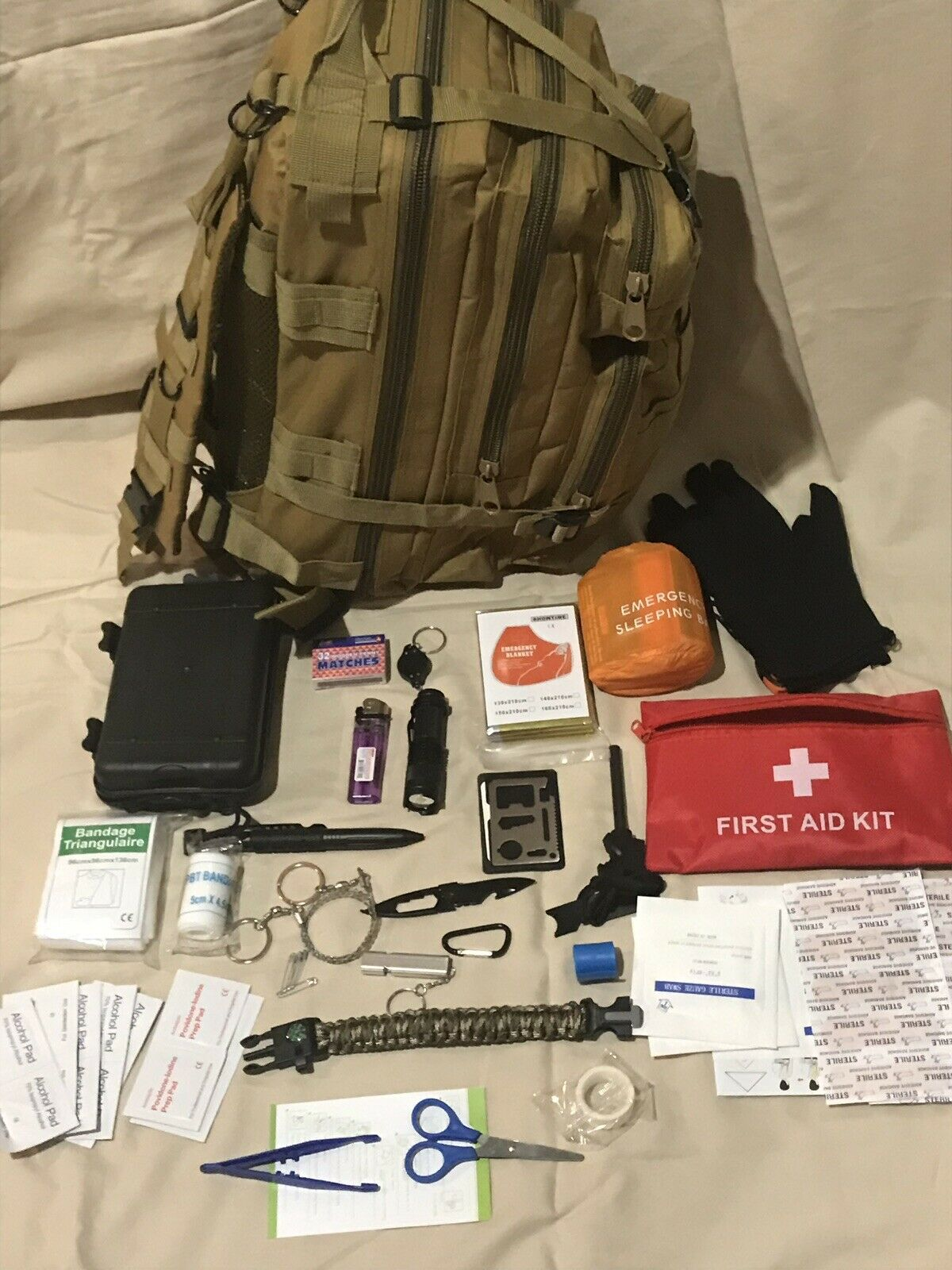 Emergency Survival Kit Bug out Bag Zombie Hurricane -  Free Shipping  outlet sale