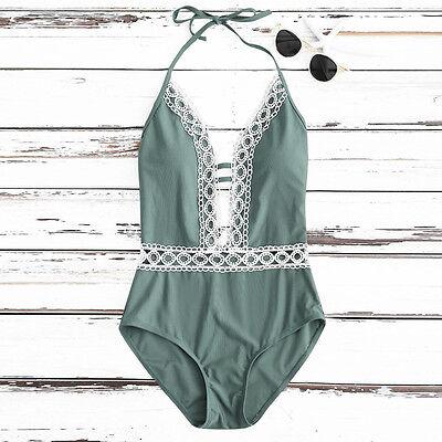 Women Swimwear Bikini One-Piece Monokini Push-Up Bathing Suit Swimsuit Beachwear