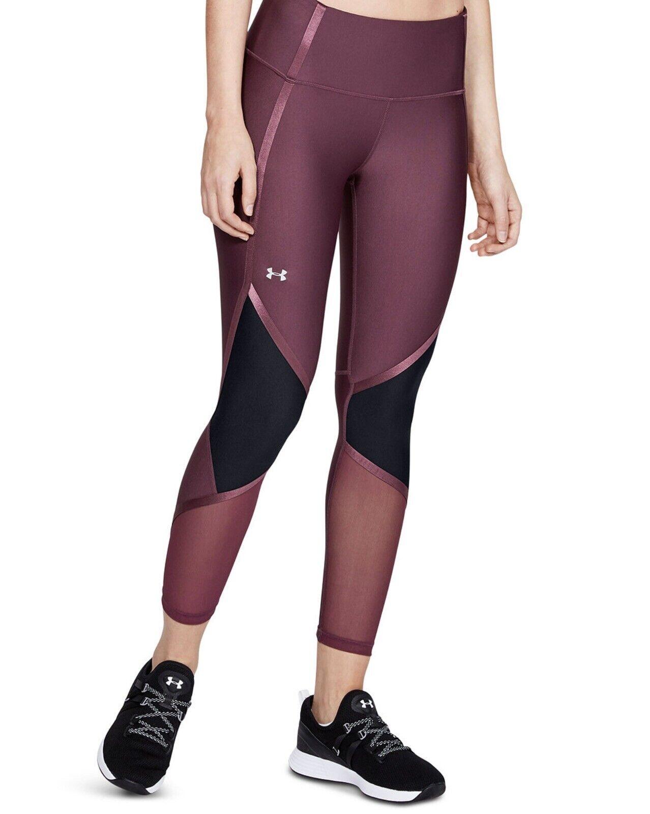 Under Armour Heatgear Women's Purple/Black Leggings. Size XS