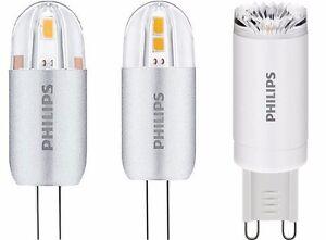 philips corepro led g4 g9 capsule 1 2w 2w 2 5w led kapsel stiftsockellampe ebay. Black Bedroom Furniture Sets. Home Design Ideas