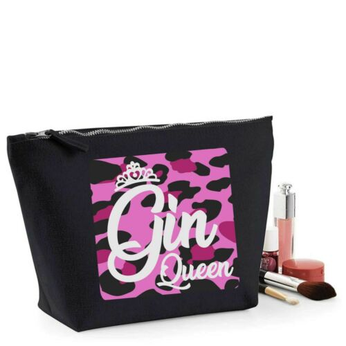 Gin Regina regalo Women/'s Makeup Bag Accessorio Make Up Caso