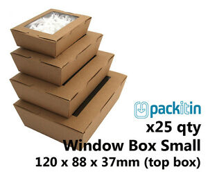 x25-SMALL-KRAFT-BROWN-WINDOW-LID-BOXES-for-macarons-cookies-food-gift-packaging