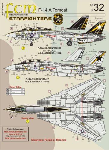 FCM 1//48 Grumman F-14A Tomcat # 48032