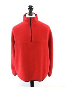 EDDIE-BAUER-Mens-Jumper-Sweater-L-Large-Red-Polyester-1-4-Zip