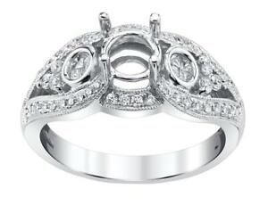 Diamond-Engagement-Ring-Setting-18k-White-Gold-0-76ct-Pie-Cut