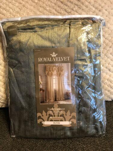 Royal Velvet Hilton Rod Pocket Tuck Valance 54 W x 20 L Evening Sage