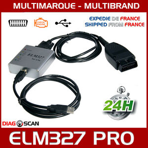 interface de diagnostic elm327 usb multimarque obd2 boitier metallique ebay. Black Bedroom Furniture Sets. Home Design Ideas